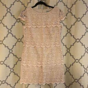 Eliza J cream colored lace dress